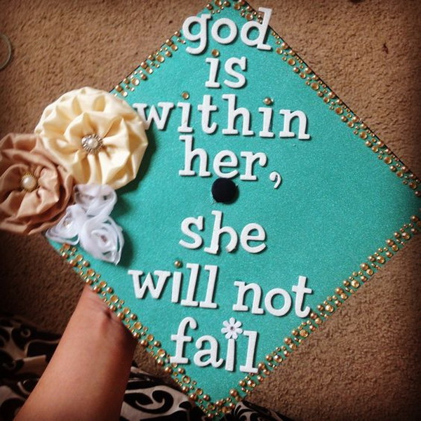 Shabby Chic Style Graduation Cap & 65+ Gorgeous Graduation Cap Decoration Ideas - Listing More