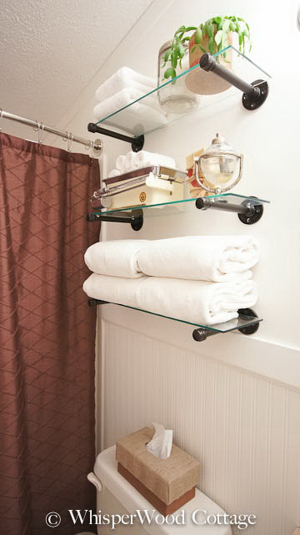 Industrial Shelf Solution For Guest Bath Storage