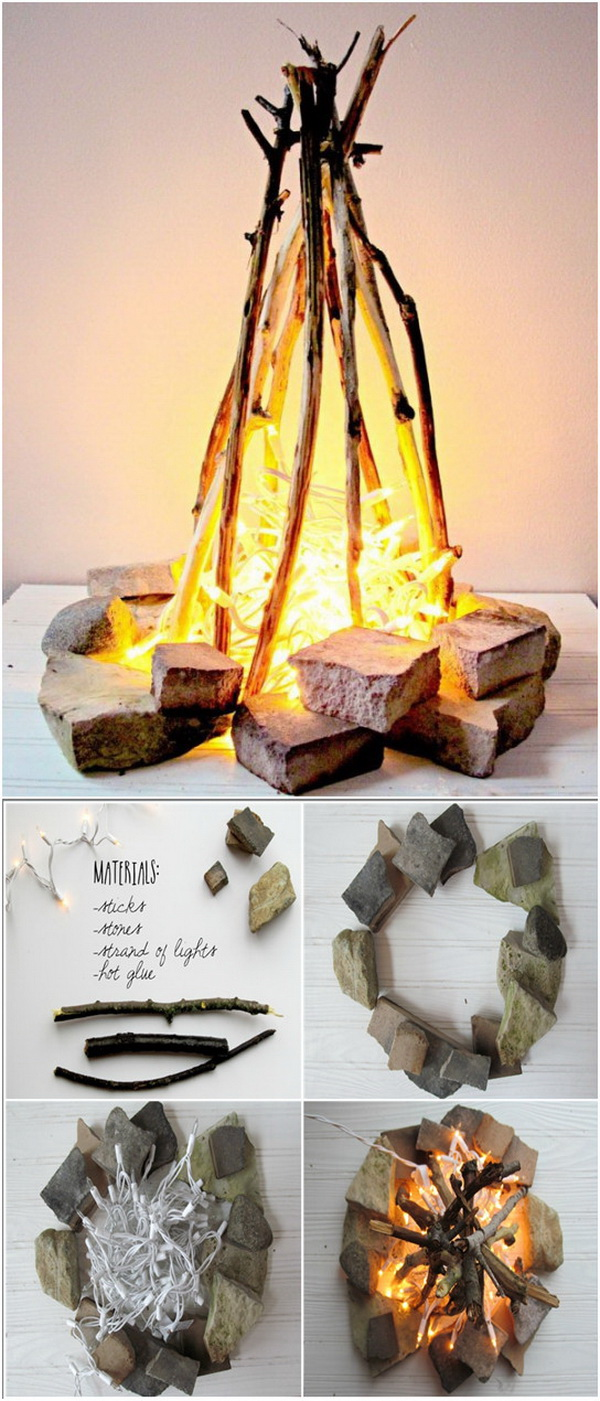 DIY Flameless Fire Pit - 20 DIY Fire Pits For Your Backyard With Tutorials - Listing More