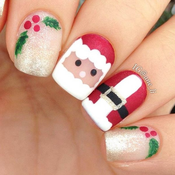 65+ Festive Nail Art Ideas For Christmas