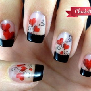 valentine nail art designs Archives - Listing More