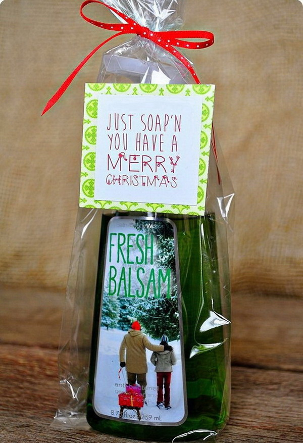 Soap Gifts with Free Printables - 35+ Quick And Easy Christmas Gift Ideas For Neighbors - Listing More